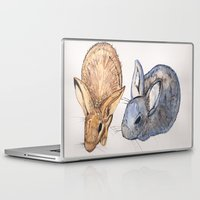 rabbits Laptop & iPad Skins featuring rabbits by 5CUZ1