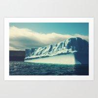 labrador Art Prints featuring Labrador Iceberg by Shaun Lowe