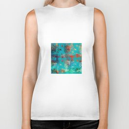 Aztec Turquoise Stone Abstract Texture Design Art Biker Tank