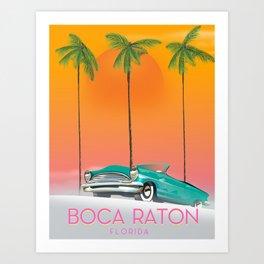 Boca Raton Florida travel poster Art Print
