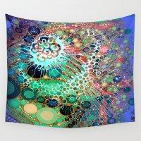 jellyfish Wall Tapestries featuring Jellyfish by AlyZen Moonshadow