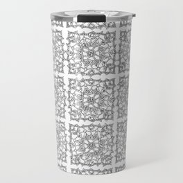 Abstracted doily - Pattern of snowflake crochet Travel Mug
