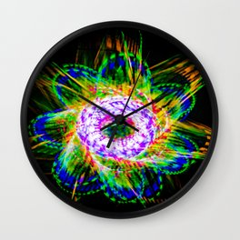 Spiralite Flower Vibrant Wall Clock