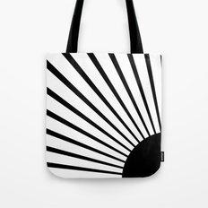 Black rays Tote Bag