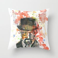 Walter White from Breaking Bad Throw Pillow