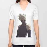 kakashi V-neck T-shirts featuring Kakashi Hatake  by Iotara