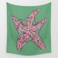 starfish Wall Tapestries featuring Starfish by Planet Hinterland by Carmen Hickson