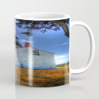 lighthouse Mugs featuring Lighthouse by Christine Workman