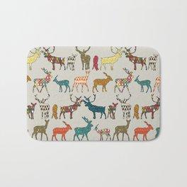 patterned deer stone Bath Mat