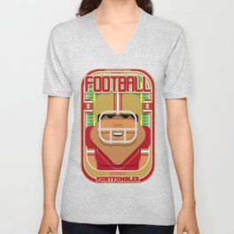 American Football Red and Gold - Enzone Puntfumbler - Seba version Unisex V-Neck