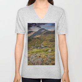 Footpath To Snowdonia Wales Unisex V-Neck