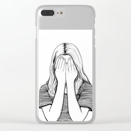Shy Clear iPhone Case