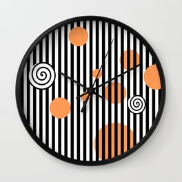 orange twist Wall Clock