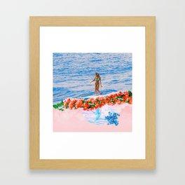 aloha gumamela surfin bougainvillea ala lea Framed Art Print