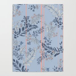 Pastel Tropical Poster