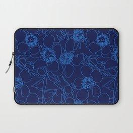 Australian Waxflower Line Floral in Blue Laptop Sleeve