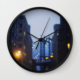 Manhattan Bridge at Night II Wall Clock