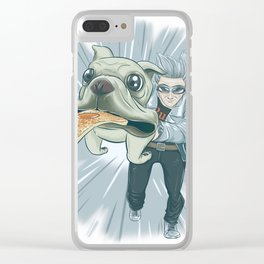 Quicksilver and Dog Clear iPhone Case