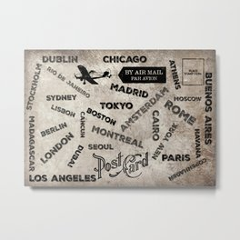 World Traveler Metal Print
