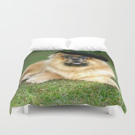 dog chow chow01 Duvet Cover