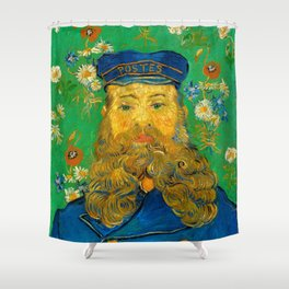 Vincent van Gogh - Portrait of the Postman Joseph Roulin (1888) Shower Curtain