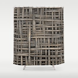 Fabric of Reality - Textured Fibres Shower Curtain