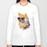 doge Long Sleeve T-shirts featuring Polygonal Doge  by Michael Fortman