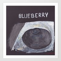 Blueberry Art Print