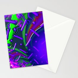 Overdrive 3D Psychedelic Fractal Stationery Cards