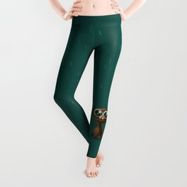 Wet cat with big eyes Leggings