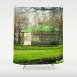 The Statuary Pavilion Shower Curtain