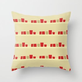 Retro Holiday Gifts Throw Pillow