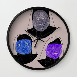 Creatures of Habit Wall Clock