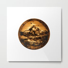 Wood-burn Wanderlust Metal Print