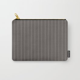 Grey-brown striped Carry-All Pouch