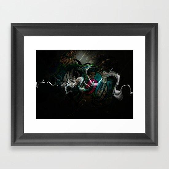 White Dragon Framed Art Print