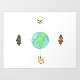 Anthropology: The Four Subdisciplines (Version 1.0) Art Print