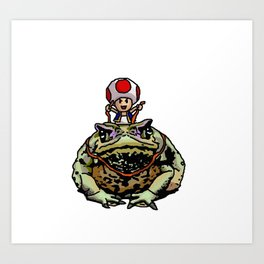 Toad Racing Art Print