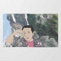 murakami Area & Throw Rugs featuring HARUKI MURAKAMI by Lucas Eme A