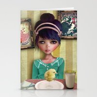 chicken Stationery Cards featuring Chicken by solocosmo