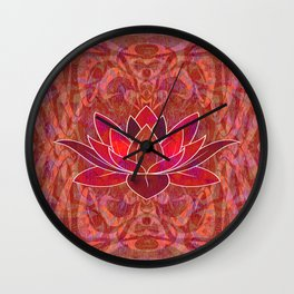 Red Root Lotus Chakra Hyperspace Psychedelic Print Wall Clock