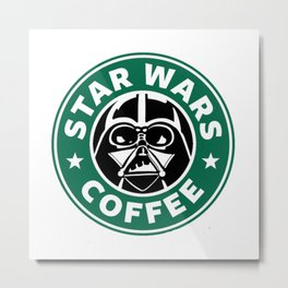 StarWars Coffee Metal Print