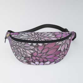 Stain Glass Floral Abstract - Purple-Lavender Fanny Pack