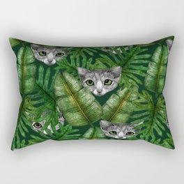 Jungle Kittens Rectangular Pillow