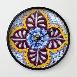Talavera Six Wall Clock