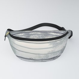 Frozen Fog in the Forest Fanny Pack
