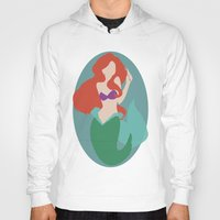 ariel Hoodies featuring Ariel by Polvo