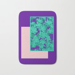 Neon Aeonium #society6 #succulent Bath Mat