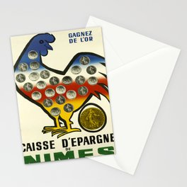 caisse depargne de nimes. 1960  oude poster Stationery Cards