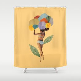 i walk out in the flowers and feel better Shower Curtain